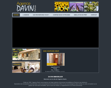 Agence immobilière Pertuis, DAVIN...