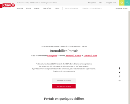 Immobilier Pertuis - Biens immobiliers...
