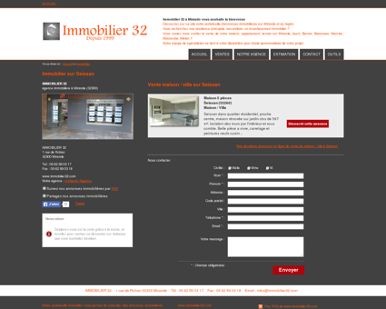 Immobilier Seissan : IMMOBILIER 32