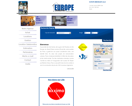 Europe Immobilier : agence immobiliere Lille...
