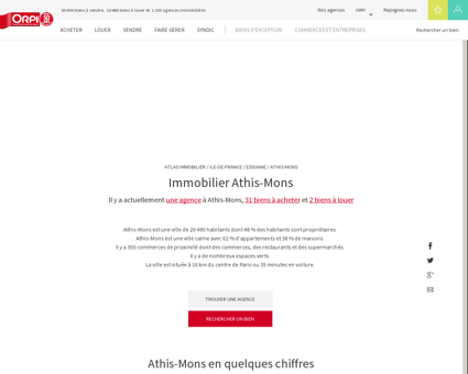 Immobilier Athis mons - Biens immobiliers...