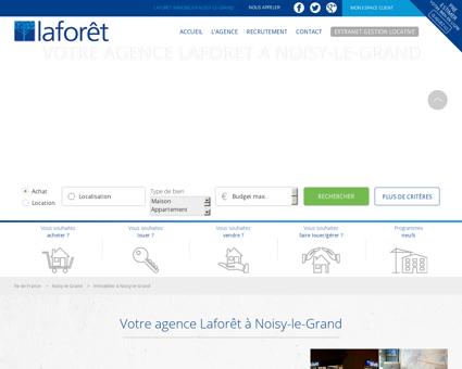 Immobilier à Noisy Le Grand - Laforêt -...