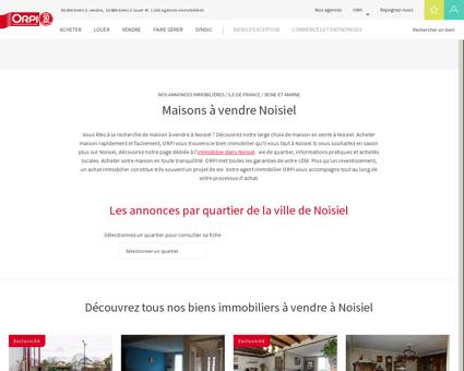 Achat - Vente Maison à Noisiel - Orpi...