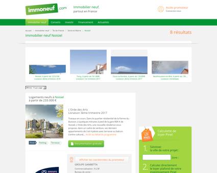 Immobilier Neuf Noisiel (77186) -...
