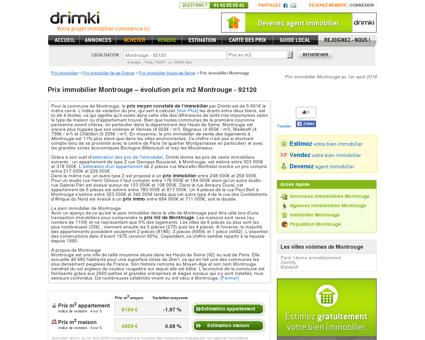 Prix immobilier Montrouge  évolution du...