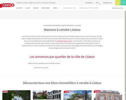 Achat - Vente Maison à Lisieux - Orpi...