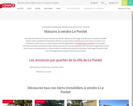 Achat - Vente Maison à Le pontet - Orpi...