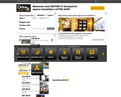 Agence immobilière LATTES CENTURY 21...