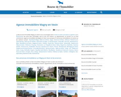 Agence immobilière Magny en Vexin -...