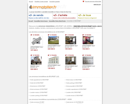 IMMOBILIER BOURGET (LE) (93350) : achat,...