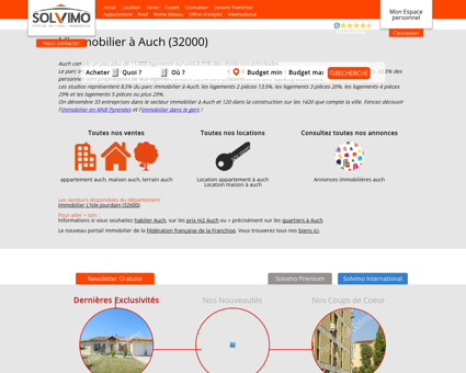 Immobilier Auch Solvimo