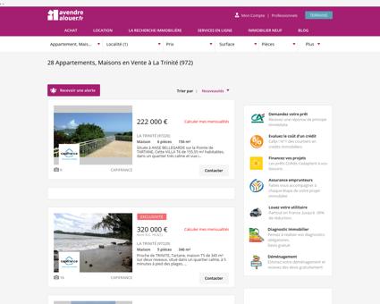 Immobilier A La Trinite | avendrealouer.fr