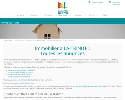 Immobilier LA-TRINITE 06340 : annonces...