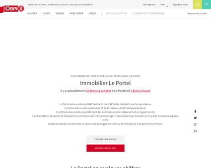 Immobilier Le portel - Biens immobiliers...