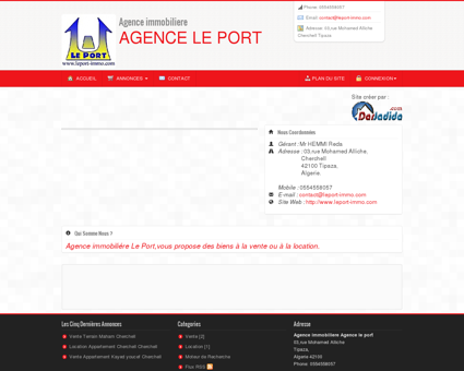 Agence immobiliere Agence le port Tipaza...