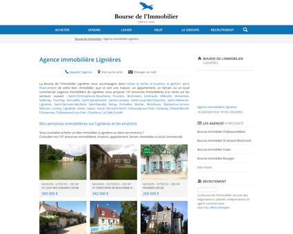 Agence immobilière Lignières - Immobilier,...