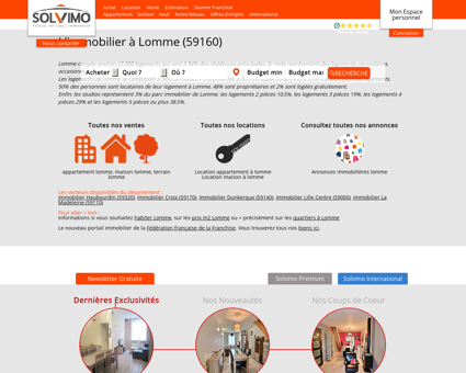 Immobilier Lomme Solvimo