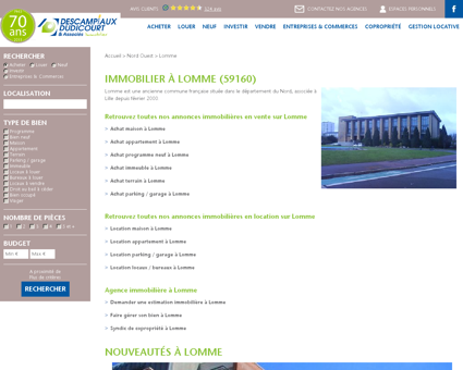 Immobilier à Lomme (59160) | Agence...
