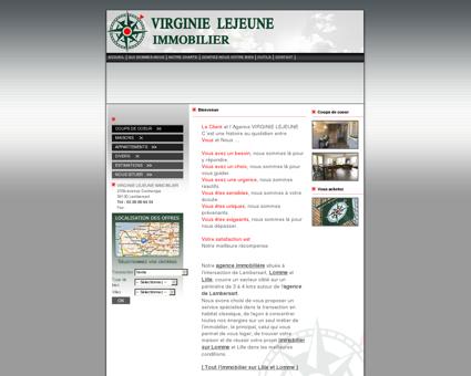VIRGINIE LEJEUNE IMMOBILIER : Agence...