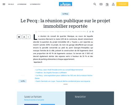 Le Pecq : la réunion publique sur le projet...