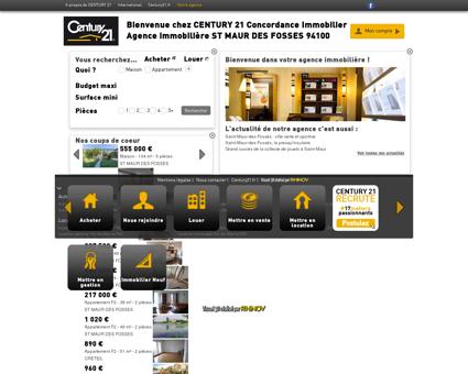Agence immobilière ST MAUR DES FOSSES...