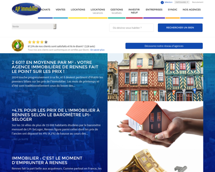 AJP Immobilier : N°1 de l'immobilier à Nantes,...