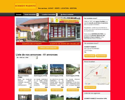 SCHMIDT-WABNITZ : agence immobilière...