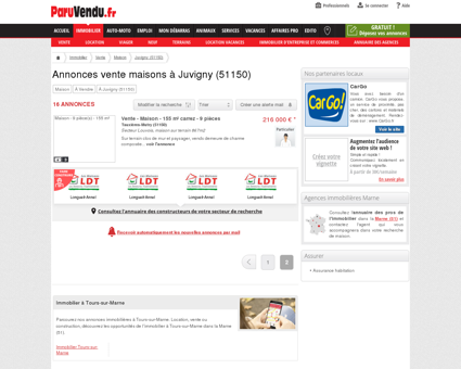 Vente maison à Juvigny (51150) : annonces...