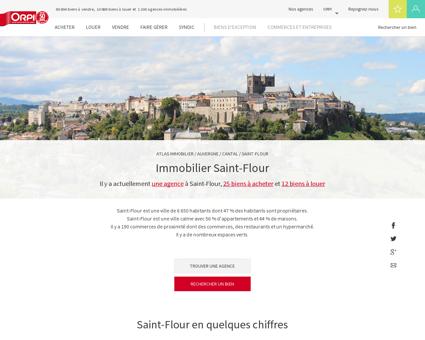 Immobilier St flour - Biens immobiliers vendus...