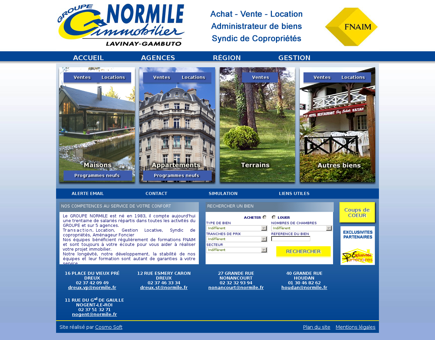 www.normile.fr, Groupe Normile Immobilier,...