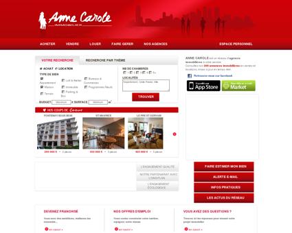 Agences immobilières Paris - AnneCarole