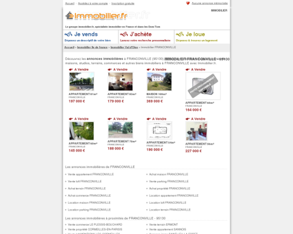 Comparateur de services de location vente immobili re de for Achat maison franconville
