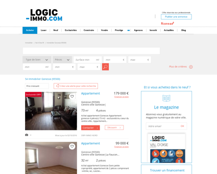 Achat Gonesse 95500: biens immobiliers -...