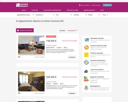 Immobilier Gonesse | avendrealouer.fr
