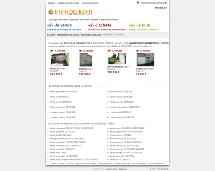 IMMOBILIER GONESSE (95500) : achat, vente,...