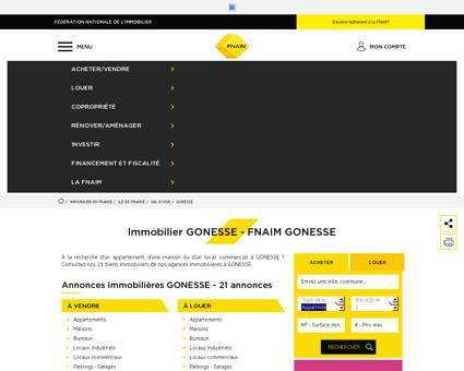 Immobilier GONESSE - Les annonces...