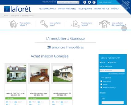 Immobilier Gonesse, annonces immobilières...