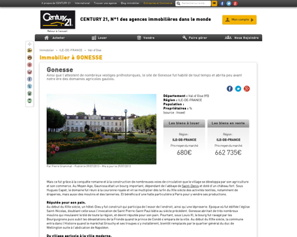 Immobilier à GONESSE - Agence immobilière...