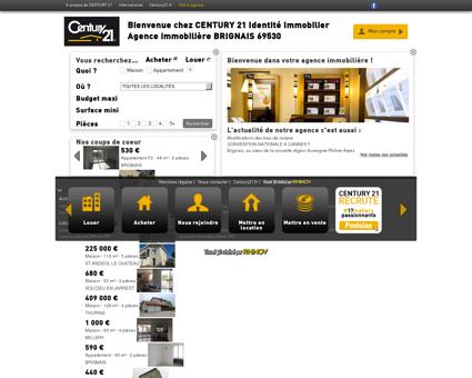 Agence immobilière BRIGNAIS CENTURY 21...