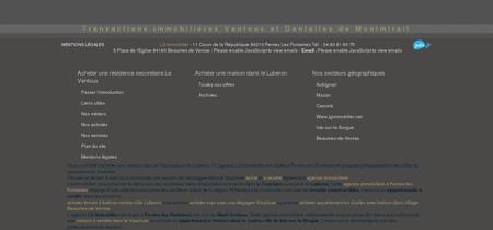 Agence immobilière Pernes-les-Fontaines 84...