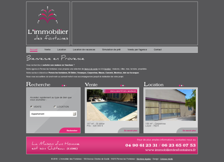 Immobilier des fontaines - Agence...