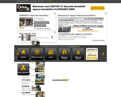 Agence immobilière FLEURANCE CENTURY 21...
