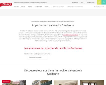 Achat - Vente Appartement à Gardanne - Orpi...