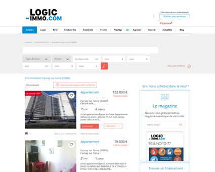 Achat Epinay sur Seine 93800: biens immobiliers