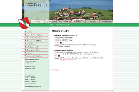 Commune d'Hauteville - Immobilier