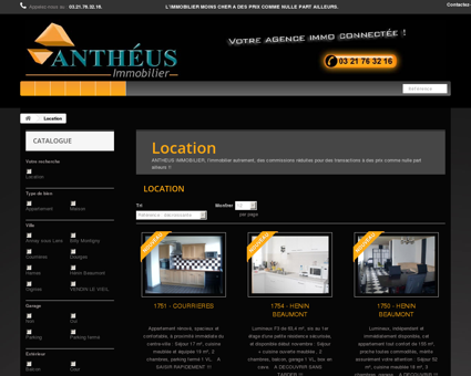 Location - ANTHEUS IMMOBILIER