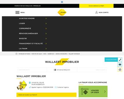 Agence - WALLAERT IMMOBILIER - 59190 -...