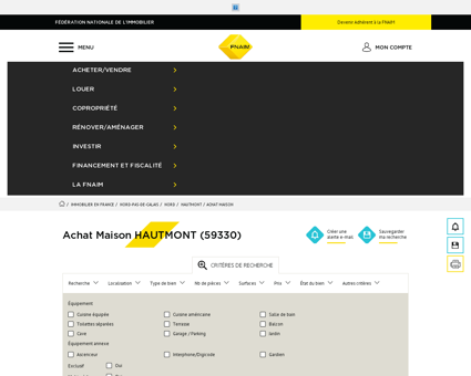 Achat Maison HAUTMONT (59330) - Fnaim.fr -...