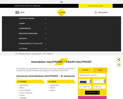 Immobilier HAUTMONT - Les annonces...