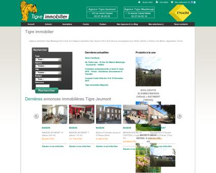 Site Internet de Tigre Immobilier Agences...